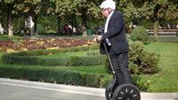 Brendan on a Segway