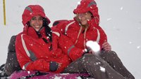 Holly and Taryn on Mount Titlis