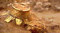 A gold urn