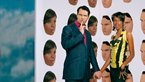 Jimmy Carr and June Sarpong